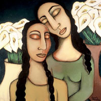 TwoWomenWithLilies