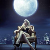 Body Meets Lunar Eclipse